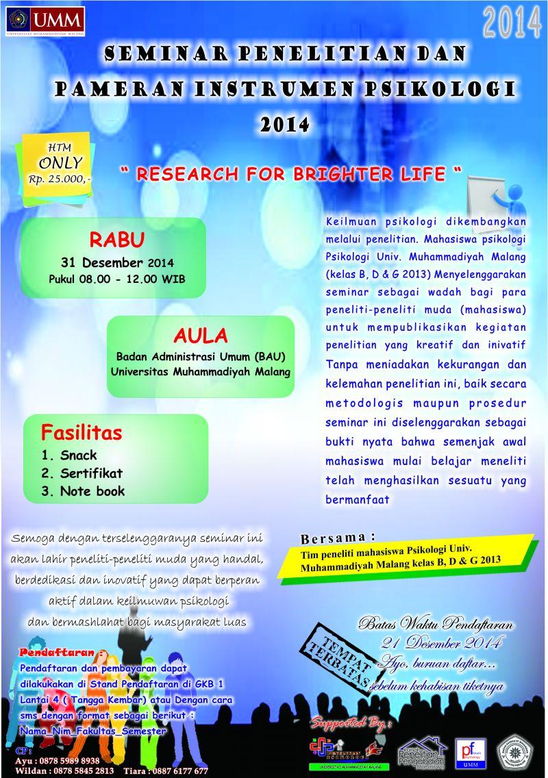 Information For Fakultas Psikologi University Of Muhammadiyah Malang